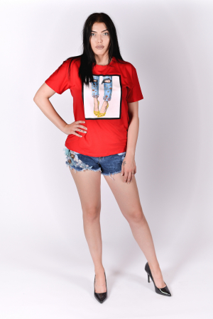 Tricou Heels Red0