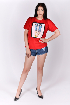 Tricou Heels Red2