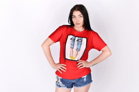 Tricou Heels Red3