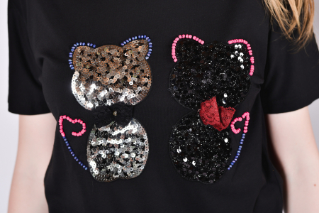 Tricou Sparkle Cats2
