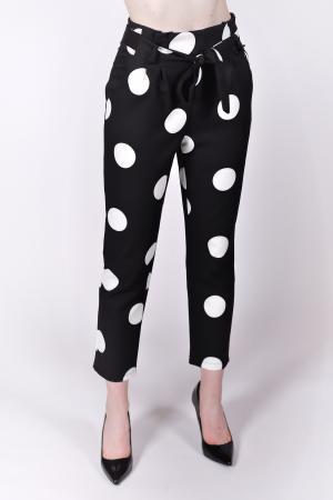 Pantaloni White Dots0