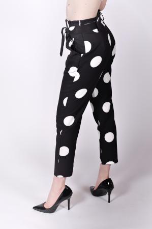 Pantaloni White Dots2