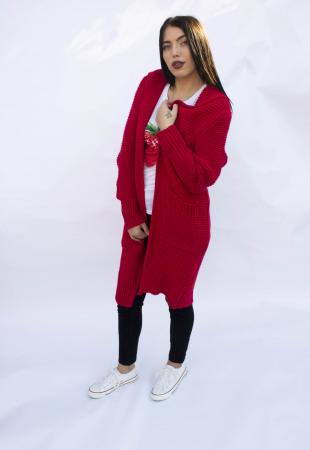Cardigan Yvona Red1