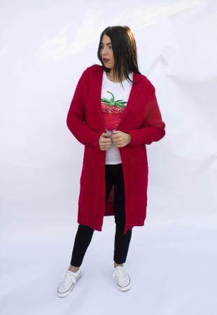 Cardigan Yvona Red2