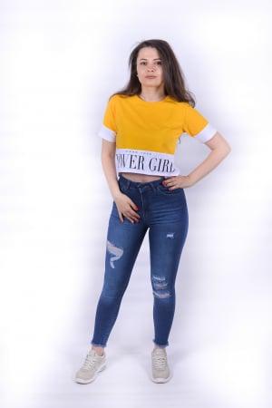 Tricou Power Girl Yellow1