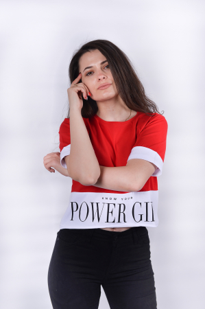 Tricou Power Girl Red0