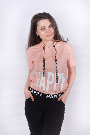 Tricou Happy Pink1