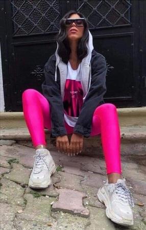 Colanti Lycra Natalie Pink0