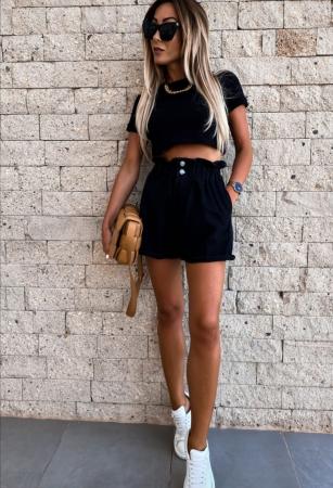 Pantaloni Scurti Emma Black1