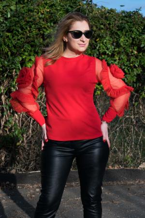 Bluza Dhalia Red1