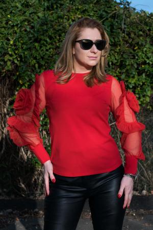 Bluza Dhalia Red0