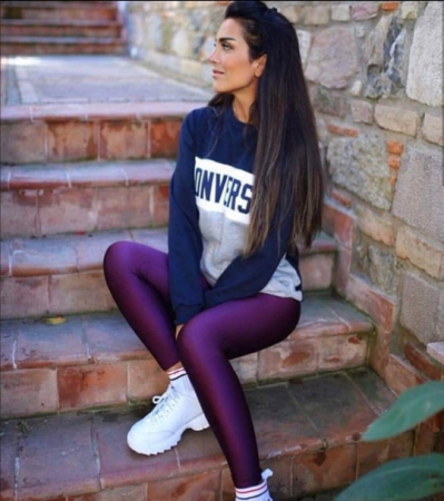 Colanti Lycra Jasmine Purple3