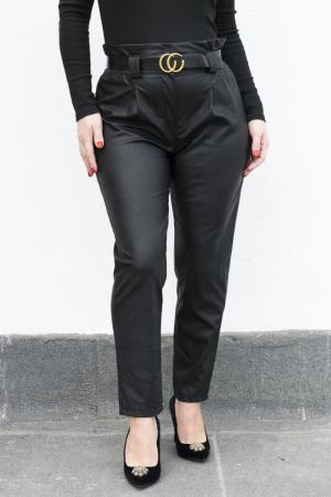 Pantaloni Eco Piele Vera Black0