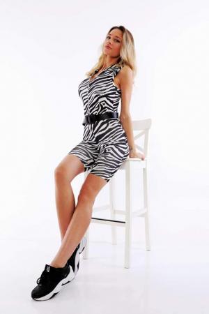 Salopeta Reina Zebra Print [0]
