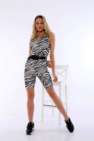 Salopeta Reina Zebra Print [2]