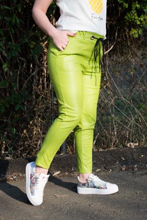 Pantaloni Eco Piele Emma Green0