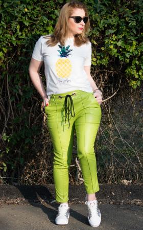 Pantaloni Eco Piele Emma Green1
