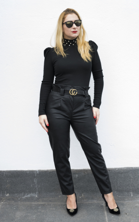 Pantaloni Eco Piele Vera Black1