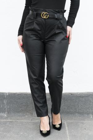 Pantaloni Eco Piele Vera Black2
