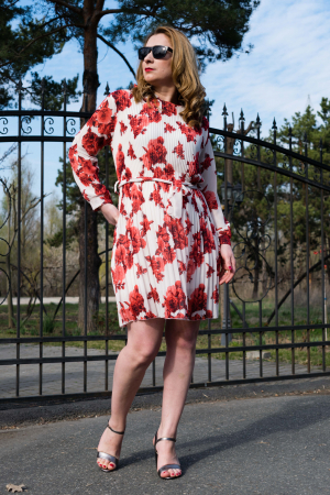 Rochie Red Flowers2