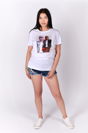 Tricou 3D Cool Girl White1