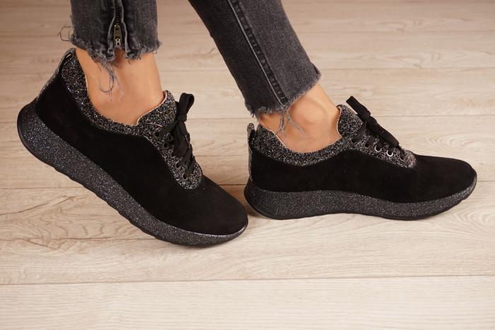 Adidasi dama din camoscio negru MSPD60920-20 2