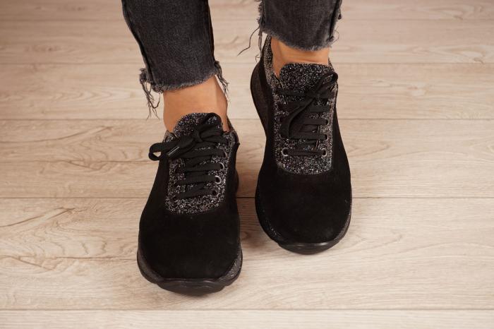 Adidasi dama din camoscio negru MSPD60920-20 3