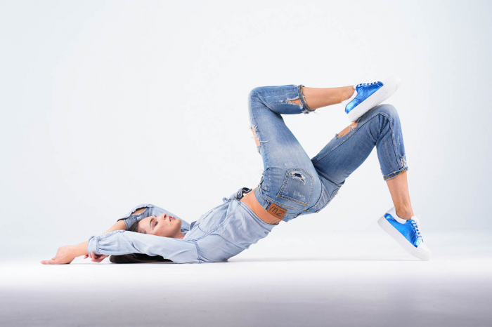 Adidasi dama din piele naturala albastra metalizata MSPD62020-21 [5]