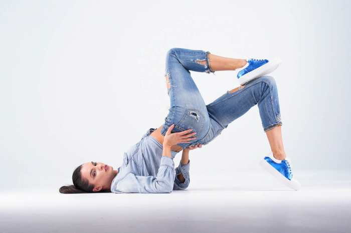 Adidasi dama din piele naturala albastra metalizata MSPD62020-21 [6]