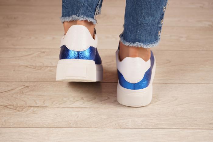 Adidasi dama din piele naturala albastra metalizata MSPD62020-21 [4]