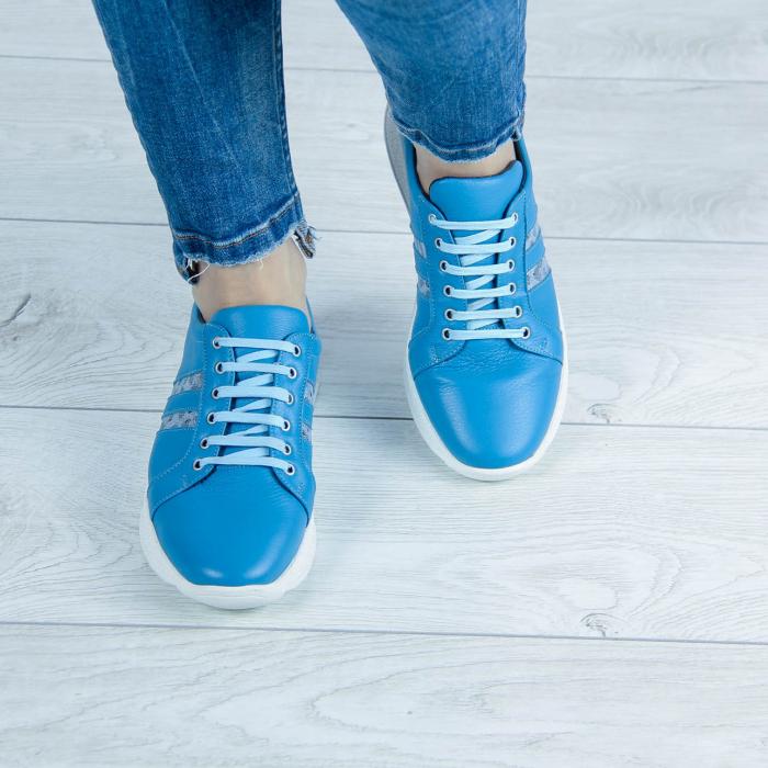 Adidasi dama din piele naturala albastra MSPD58719-20 [1]