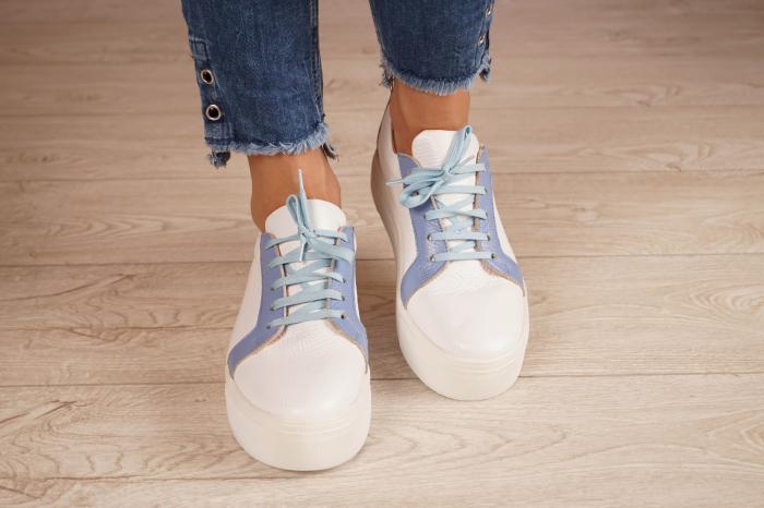Adidasi dama din piele naturala alba MSPD61520-20 3