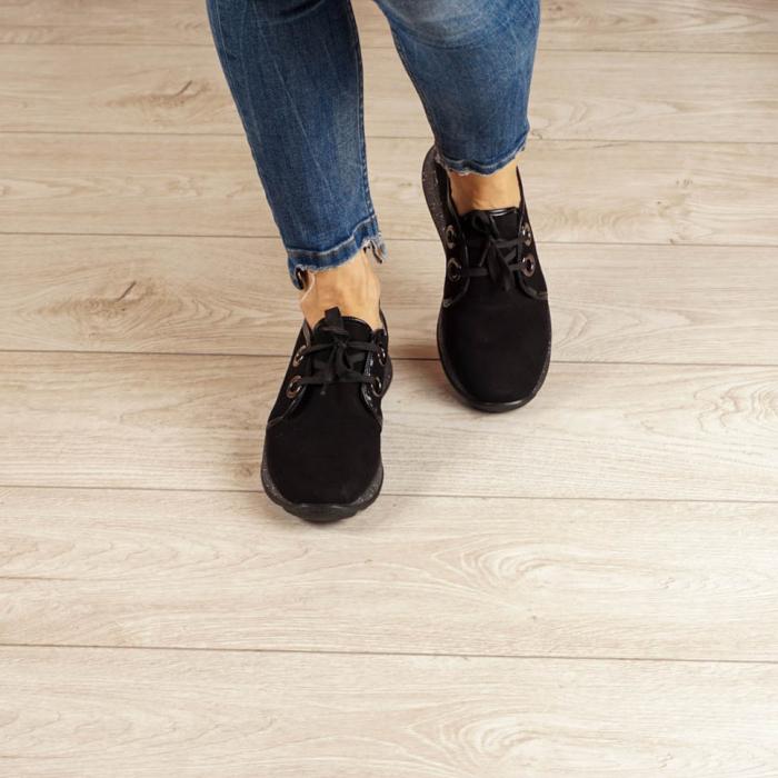 Adidasi dama din piele naturala camoscio negru MSPD52820-20 [2]