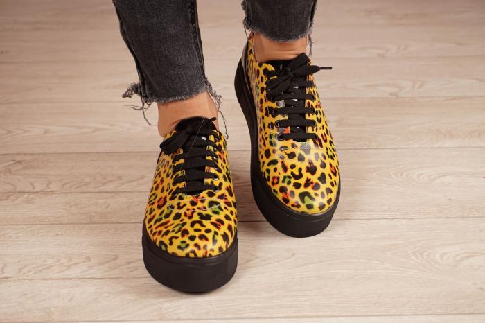 Adidasi dama din piele naturala cu imprimeu leopard MSPD56620-1-21 [3]
