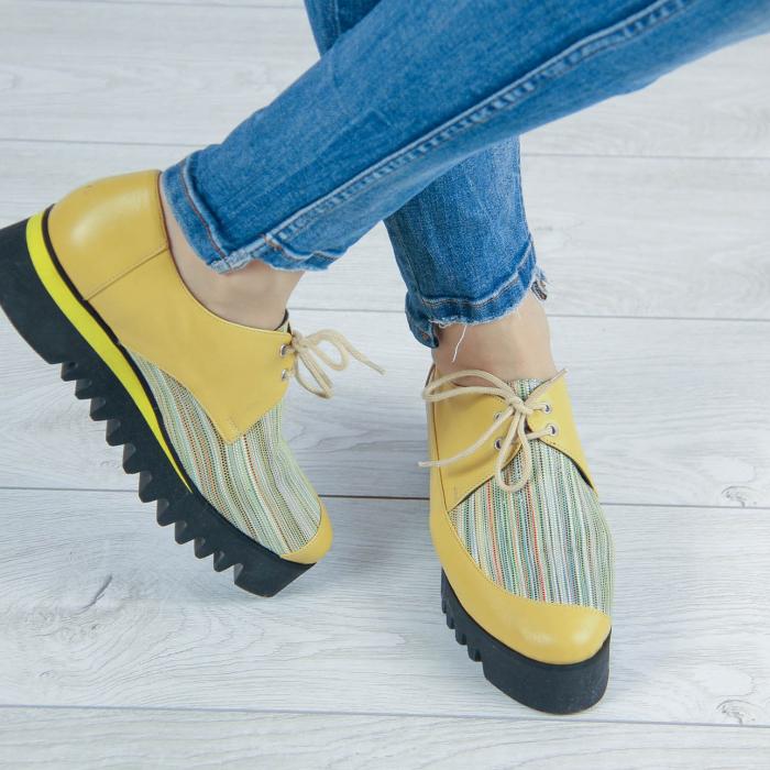 Pantofi dama din piele naturala cu imprimeu MSPD52520-2-20 0