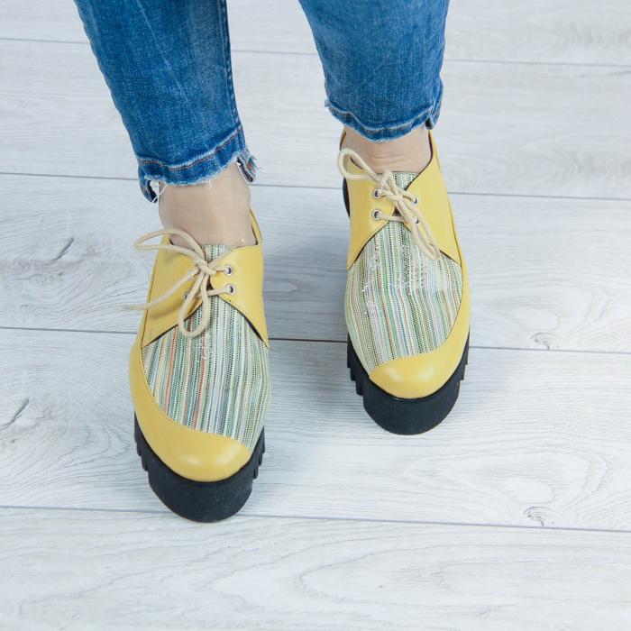 Pantofi dama din piele naturala cu imprimeu MSPD52520-2-20 1