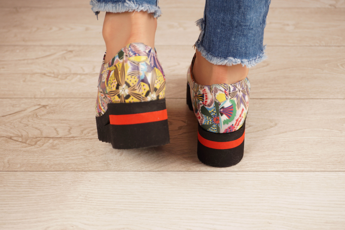 Pantofi dama din piele naturala cu imprimeu MSPD53017-18-20 4