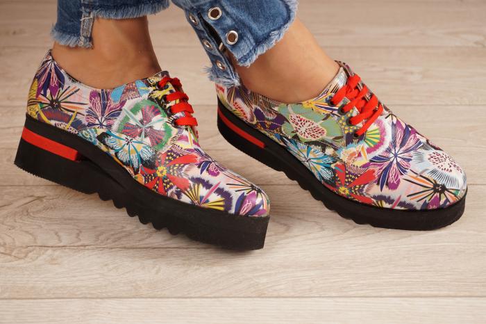 Pantofi dama din piele naturala cu imprimeu MSPD53017-18-20 1