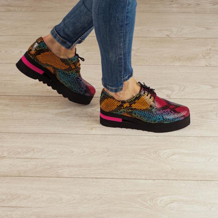 Pantofi dama din piele naturala cu imprimeu MSPD53017-2-20 [0]