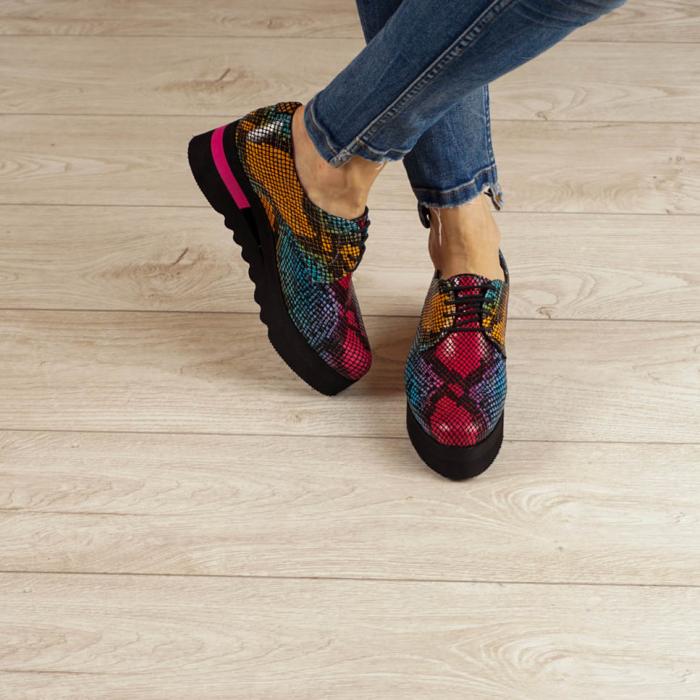 Pantofi dama din piele naturala cu imprimeu MSPD53017-2-20 [1]
