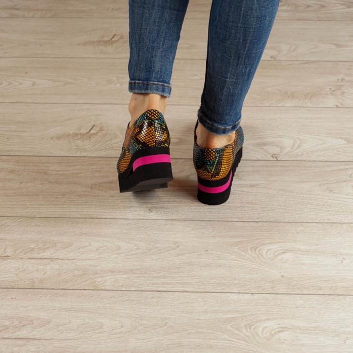 Pantofi dama din piele naturala cu imprimeu MSPD53017-2-20 [3]