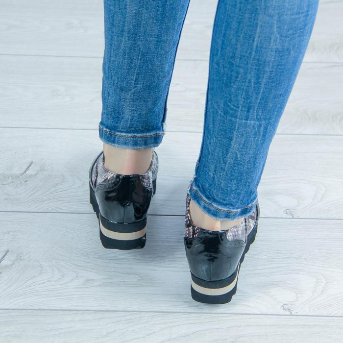 Pantofi dama din piele naturala cu imprimeu MSPD57218-1-20 2