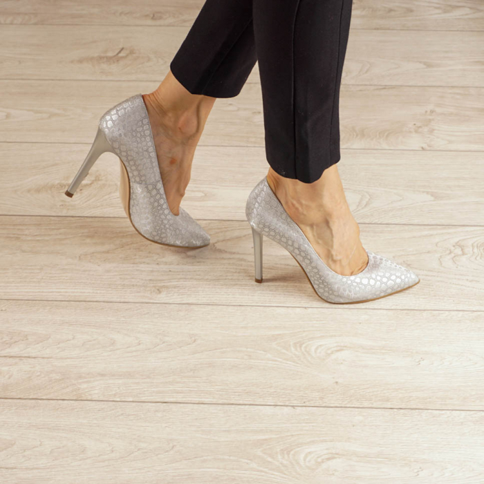 Pantofi dama din piele naturala cu imprimeu MSPD190-2-20 [0]