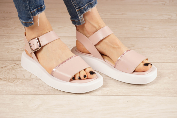 Sandale din piele naturala roz pudra MSSD3021-21 [1]