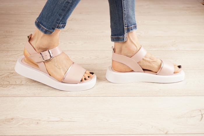 Sandale din piele naturala roz pudra MSSD3021-21 [2]