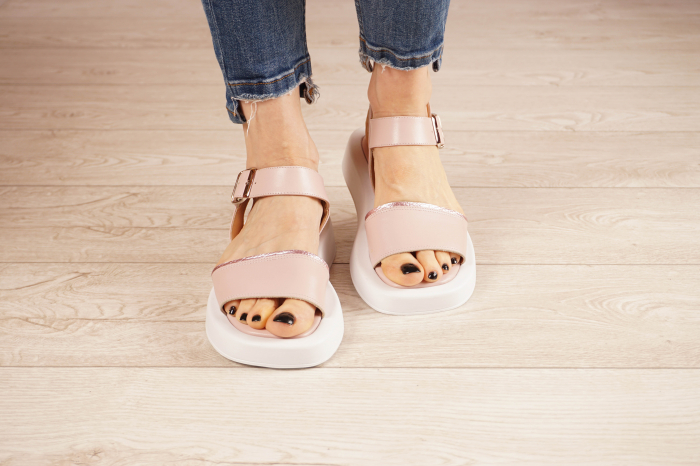 Sandale din piele naturala roz pudra MSSD3021-21 [3]