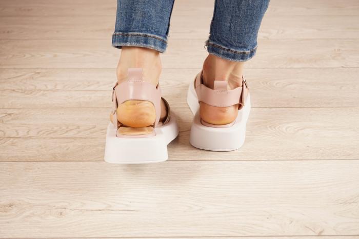 Sandale din piele naturala roz pudra MSSD3021-21 [4]