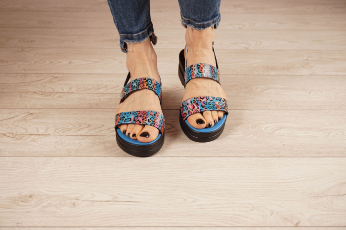 Sandale din piele naturala cu imprimeu MSSD7020-21 [3]
