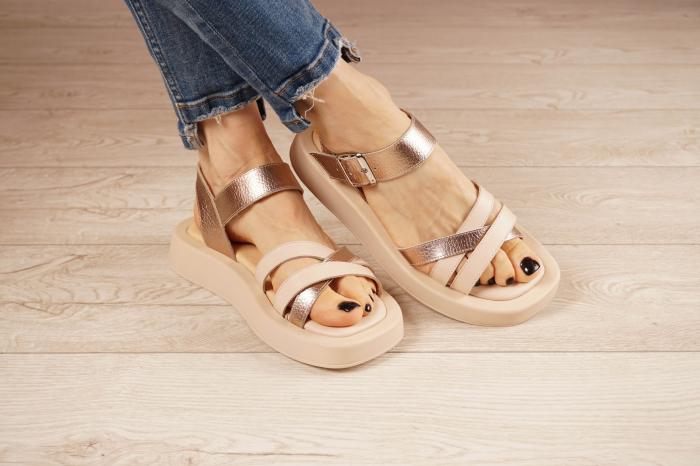 Sandale din piele naturala pe un fundal nude MSSD3421-21 [0]