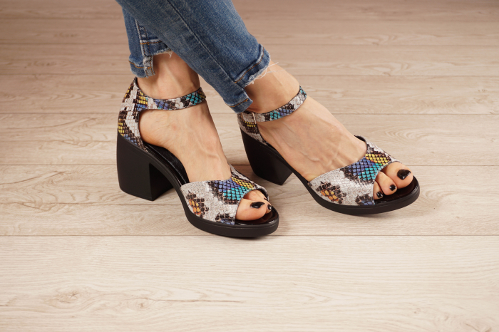 Sandale din piele naturala cu imprimeu MSSD2821-21 [0]